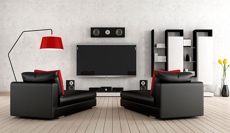 Modern Smart Living Room Setup