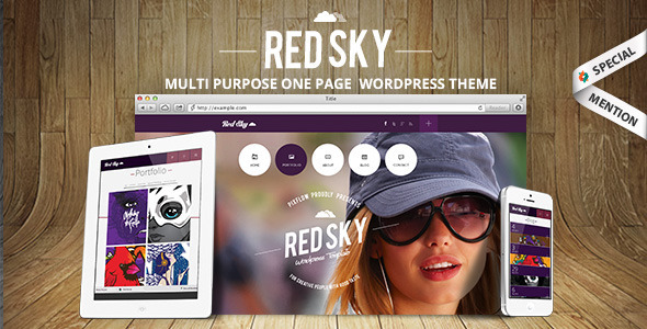Web Development Popular Template Red Sky