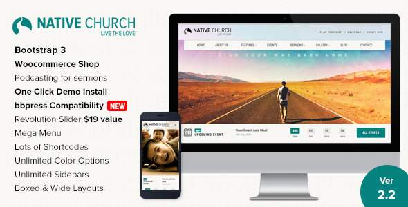 Web Development Popular Template Native Church